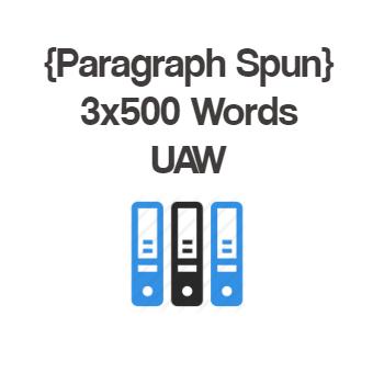 UAW 500+ Words Spun Article