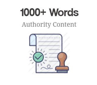 1000+ Words Authority Content